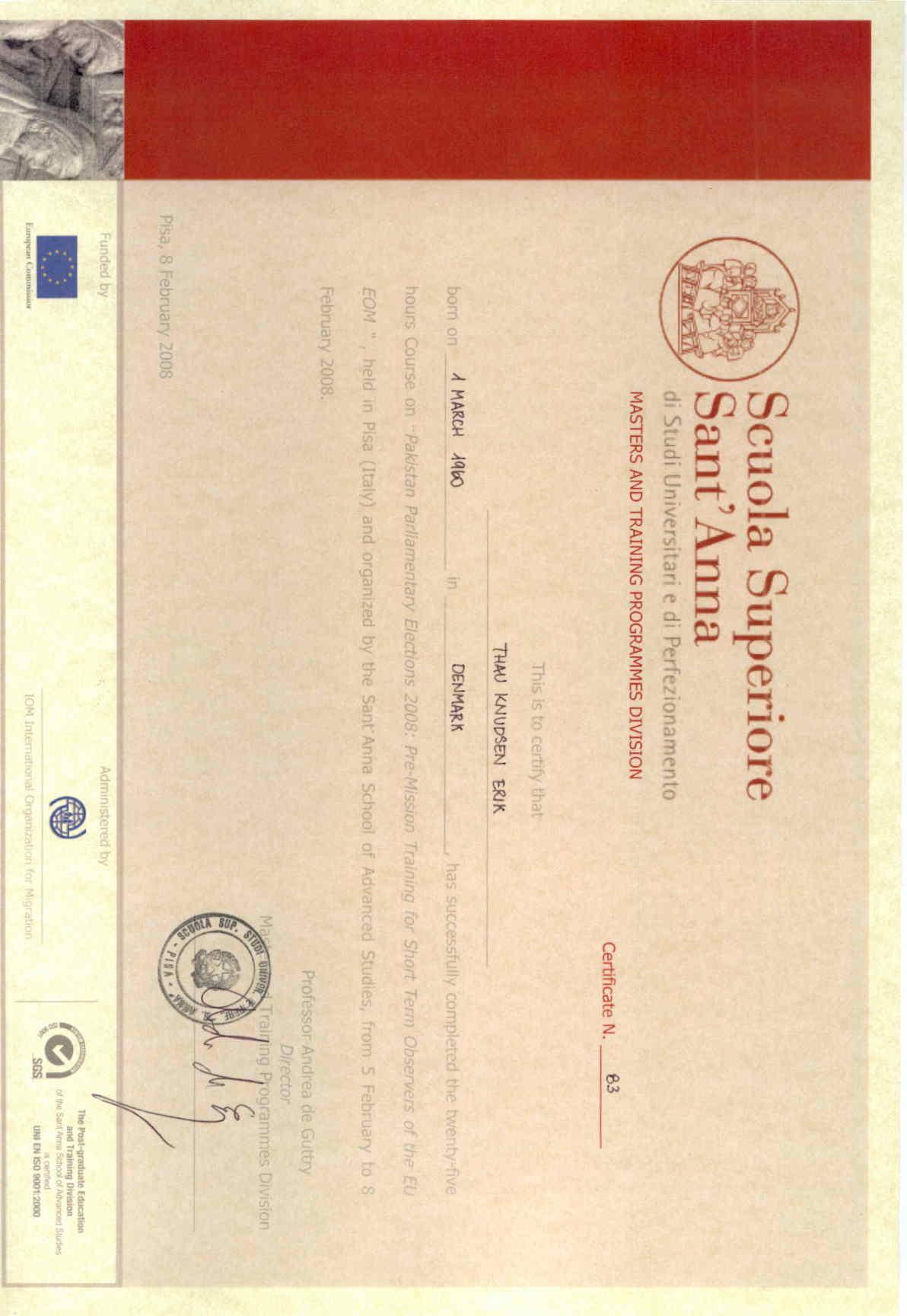 Diploma Scuola Superiore Scuola Superiore Sant 39 Anna di
